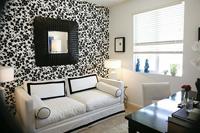 Black and white wallpaper for living room